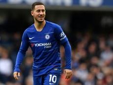 Hazard solo piensa en el Madrid. AFP