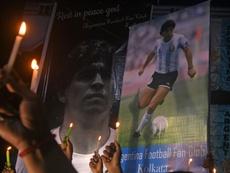 Maradona será enterrado este jueves en Buenos Aires. AFP