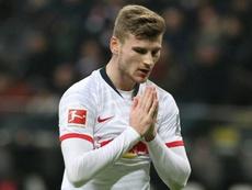Timo Werner dejará una buena cantidad en las arcar del RB Leipzig. AFP/Archivo