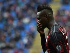 Mario Balotelli s'est vu offert une place par un club de Serie... D. AFP