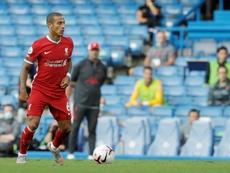 Thiago, enfin prêt à faire ses débuts à Anfield. AFP