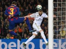 Benzema confía en levantar el título de Liga. AFP