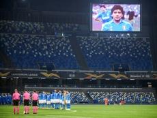 Il Napoli conquista i tre punti. AFP