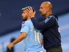 Guardiola confirme l'absence d'Aguero face au Real. AFP
