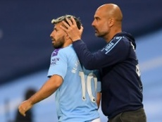Agüero manquera le choc contre le Real Madrid. AFP