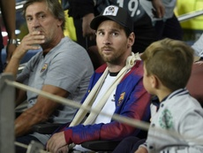 Lionel Messi is still unfit to play for Barcelona. AFP