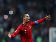 Cristiano Ronaldo está a 15 gols do recorde mundial de seleções. AFP