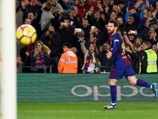 Barça com problemas? Há Lionel Messi para resolver. AFP
