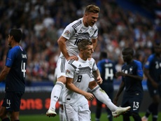 Kroos scored Germany's first competitive goal since his winner over Sweden. AFP