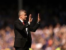 Manchester United manager Ole Gunnar Solskjaer apologises. AFP