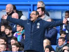 El futuro de Sarri en el Chelsea está en el aire. AFP/Archivo