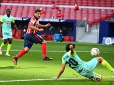 Luis Suárez apunta a volver a jugar en Champions. AFP