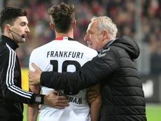 Abraham, suspendido siete semanas por su acción ante el Freiburg. AFP