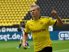 Erling Haaland is wanted by the likes of United and Real Madrid. AFP
