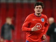 Maguire fue expulsado en su último encuentro con Inglaterra. AFP