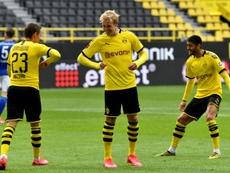 Solo el Borussia Dortmund consiguió la victoria como local. AFP