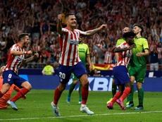 Atlético líder do campeonato espanhol. AFP