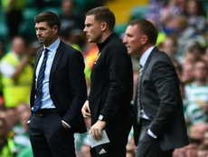 Brendan Rodgers fue el tercer técnico con el que más jugó Gerrard en su carrera. AFP