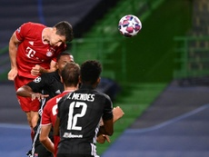 Lewandowski anda tras un récord de Cristiano. AFP