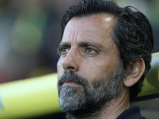 Quique Sánchez Flores no ha podido sino pedir perdón a la afición. AFP/Archivo
