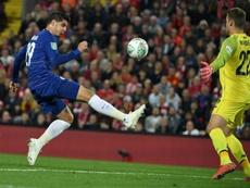 Álvaro Morata se formó en la cantera del Atleti. AFP/Archivo