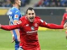 El Mainz 05 vapuleó al Hoffenheim en su propio estadio. AFP
