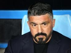 De Laurentiis veut garder Gattuso jusqu'en 2023. AFP