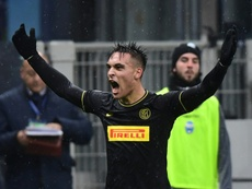 Lautaro Martinez is not for sale despite Barca's interest. AFP