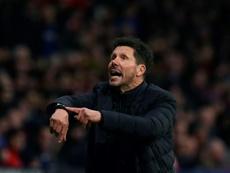 Simeone respondió a quienes criticaron al Atleti por celebrar el 1-0 al Liverpool. AFP/Archivo