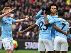 El City trituró al West Ham. AFP