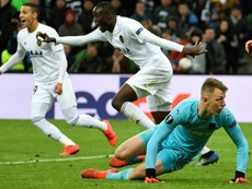 El gol de Guedes dio el triunfo al Valencia. AFP