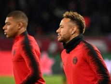 Tuchel parle en public du futur de Neymar et Mbappé. AFP