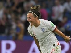Bronze, una de las goleadoras de la noche. AFP