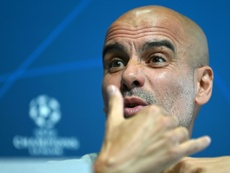Not good enough: Pep Guardiola believes Manchester City are still not yet ready to win the Champions League