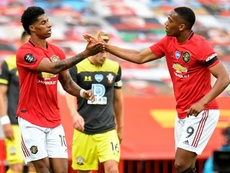 Paul Scholes évoque Martial et Rashford. AFP