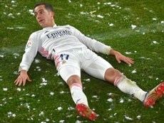 Javi López desgranó el juego de Lucas Vázquez. AFP