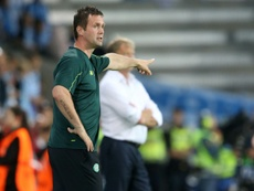 Deila when he was in charge at Celtic. AFP