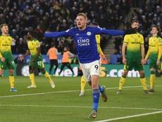 Jamie Vardy teve grande ascensão no futebol inglês. AFP