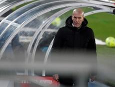 Zidane está com coronavirus. AFP