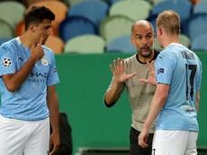 Guardiola has insisted that future lies at City. AFP