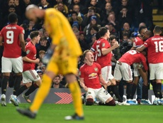 Manchester United surprend Chelsea . AFP
