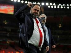 Marinakis fue diagnosticado poco después del Arsenal-Olympiacos. AFP