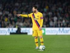 Le bilan de Messi en février : 29 tirs, 6 passes décisives et 0 but. AFP