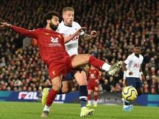 Salah pode ficar de fora contra o Crystal Palace. AFP