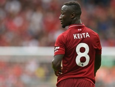 Naby Keita enfin de retour avec la Guinée pour préparer la CAN. AFP
