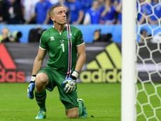 Halldorsson a été sacré meilleur joueur du match Argentine-Islande. AFP