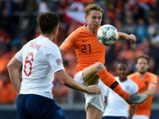 Frenkie de Jong won man-of-the-match for an outstanding performance against England. AFP