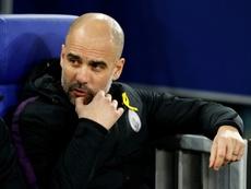 Guardiola satisfeito com o resultado mas não com o jogo da sua equipa. AFP
