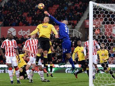 El jugador Dionatan ha abandonado el Stoke City. AFP