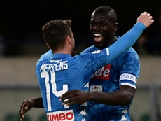 Fabián and Koulibaly are worth 100M; Mertens and Callejón, close to extending. AFP